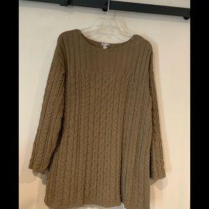 J Jill taupe Chenille knit sweater
